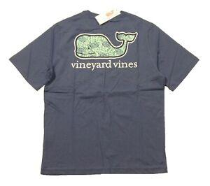 Vineyard Vines Boys Moonshine Blue Sea Turtle Whale Short Sleeve Pocket T-Shirt