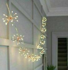 50/100 LED Lichterkette Solar Feuerwerk Beleuchtung Garten Party Außen Deko