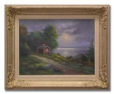 T. BERG / 1940s ORIGINAL SWEDISH ART OIL PAINTING