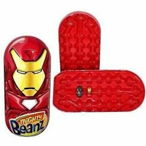 Mighty Beanz Iron Man Tin New 2010 Series 1 Target Exclusive with 2 Marvel Beanz