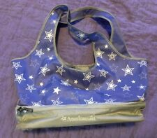 American Girl TOTE BAG DOLL CARRIER Purple w/ White Stars Pre-owned As Is