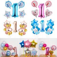 Girl One Year Old 1st Birthday Baby Shower Latex Balloons Set Confetti Balloon