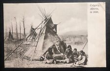 Mint Canada Picture Postcard Native American Indian Calgary In 1880