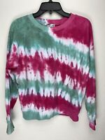 Wildfox Couture Womens Fiona Crew Tie Dye Tropical Pullover Sweater