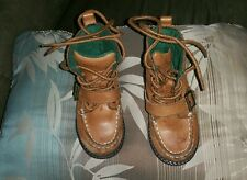 Ralph Lauren Polo Boots Size 7 Kids Brown Leather used