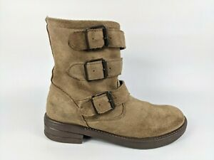 Topshop Fully Fleece Lined Suede Leather Boots Uk 5 Eu 38