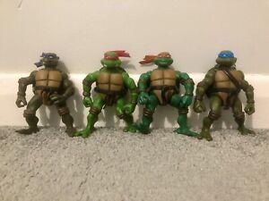 Playmates Teenage Mutant Ninja Turtles Figures Leo Donatello Raphael Mikey 2002