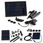 Solar Panel Powered Water Pump For Garden Plants Fountain Pond Pool Kit
