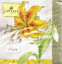 20 Cypress Yellow & Orange Spotted Daylily Paper Cocktail Napkins