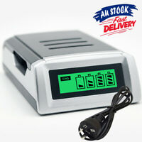 4 Slots LCD With AZ Charger Rechargeable Battery Digital for AA /AAA NiCd NiMh