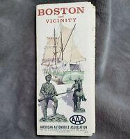 Vintage AAA Boston Massachusetts Road Street Map 1966