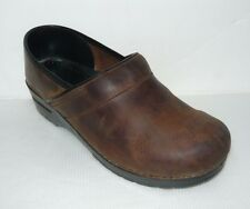 Dansko Professional Shoes Brown Occupational Casual Clogs 41/L10.5/M7.5