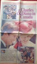 Princess Diana Rare Toronto Canada Star Newspaper 1983 Royal Tour Her First