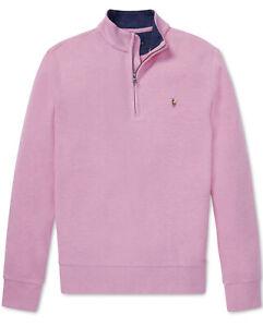NWT Ralph Lauren Polo Little Boys Cotton Mesh Half Zip Pullover