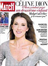 """Celine Dion """"Rare"""" Paris Match Magazine 2010 Excellent Condition"""