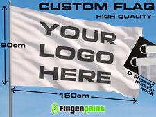 CUSTOM FLAG 90 x 150 logo business full color colour fan club emblem advertising