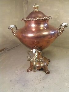 Antique Copper Samovar , Urn