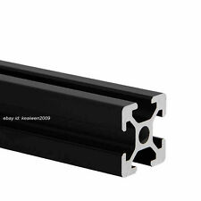 2pcs 2020 T-slot Aluminum Profiles Extrusion Frame 500mm Length 3D Printer Black