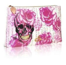 Sanctum Soho Womens Girls Rose Skull Cosmetic Make up Purse Biker Rock Chick
