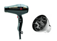 Parlux 3800 Black Compact Ceramic  Hair Dryer and Parlux 3800 Diffuser