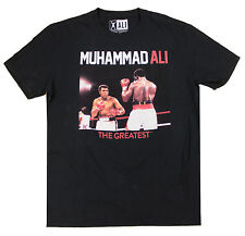 Muhammad Ali NEW The Greatest Large Boxing Short Sleeve T Shirt Tee Black Cotton