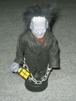 "1989 TELCO HALLOWEEN FIGURE FRANKENSTEIN 17"" MOTIONETTES LIGHT eye LANTERN Moves"