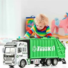 Green Garbage Truck Trash Bin Sanitation Model Diecast Vehicle Car Kids Toy Gift