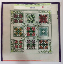 Sampler that Teaches Different Stitches-Hand Painted Needlepoint Canvas-13 count