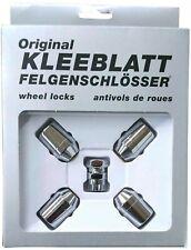 Original KLEEBLATT Felgenschlösser Felgenschloss Set 4x M14x1,5 Kegelbund 60°