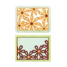 SIZZIX Thinlits Die Cutting Set 6 Pk FLOWER CARDS 659974 Reduced