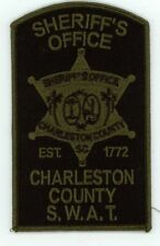 CHARLESTON COUNTY SHERIFF SOUTH CAROLINA SC SWAT SUBDUED NICE PATCH POLICE