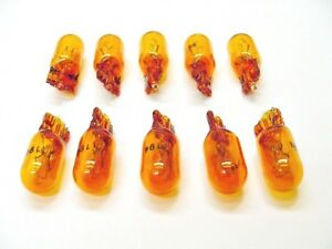 Box of 10 Amber Incandescent 194NA Side Marker Parking  Running Lights Bulbs GM