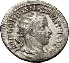 Gordian III 241AD Silver Authentic  Ancient Roman Coin Zeus Jupiter Cult i53193