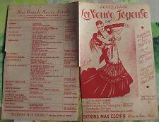 Ancienne Partition La Veuve Joyeuse c'est la Valse Écoutez chanson de Vilya