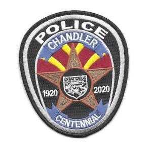 ARIZONA-HARD 2 GET-CHANDLER POLICE  2020 CENTENNIAL PATCH- NICE PATCH