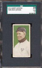 "1909-11 T206: Arlie Latham ""New York National"" SC 350-460 42 OP SGC 20 1.5"