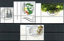 4 Briefmarken Deutschland Bund 2001 o gestempelt Frankfurt Nr 2206 - 2209 BR199