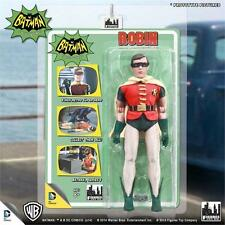 1966 BATMAN TV SERIES 3; ROBIN 8 INCH ACTION FIGURE NEW MOSC FIGURES TOY CO
