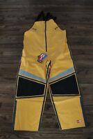 35 New Mens Columbia PFG Force 12 Waterproof Bib Pants Stinger Yellow $350 L XL