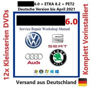 ETKA 8.2 + PET2 Werkstatthandbuch Reparaturanleitung 12xDVDs