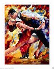 Beautiful modern art handmade decorative oil painting Ballroom dance (No Frame)