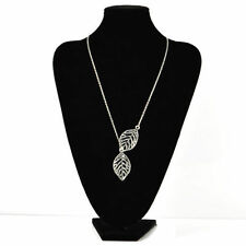 Double Gold Silver Leaves pendant Clavicle Necklace Wedding Fashion Jewelry Gift
