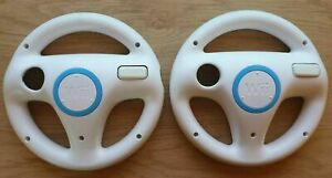 Official Nintendo Wii Steering Wheel x2 for Mario Kart & Racing Games Genuine