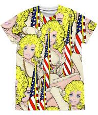 Funny, Gay T-Shirt. Barbie as Dolly Parton! Sublimation, Pride,Mardi Gras, 2XL