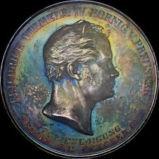 NGC MS63 1840 GERMAN PRUSSIA MEDAL WILHELM IV 2 THALER  UBER COOL TONED, SILVER