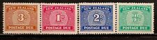 NEW ZEALAND 1939 NUMERAL SC # J22-J25 MLH
