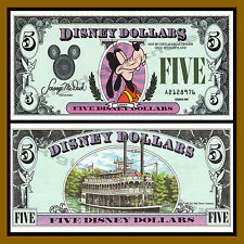 "Disney 5 Dollars, 1987 Series ""A"" Disneyland Uncirculated"