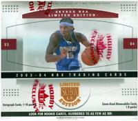 RARE 2003-04 Skybox Limited Edition L.E. Hobby Basketball Box Factory Sealed
