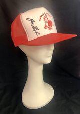 Vintage 1996 Cincinnati Reds Wally Post Open Baseball Hat Signed by Joe Nuxhall