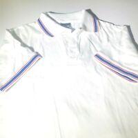 Vintage Ringer Collard Tennis Shirt Men's Size Medium Bike XL USA Made